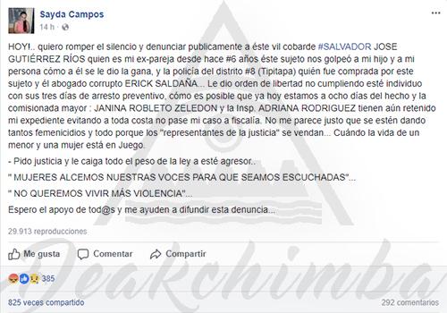 Mujer Agredida En Nicaragua por Salvador José Gutiérrez Ríos