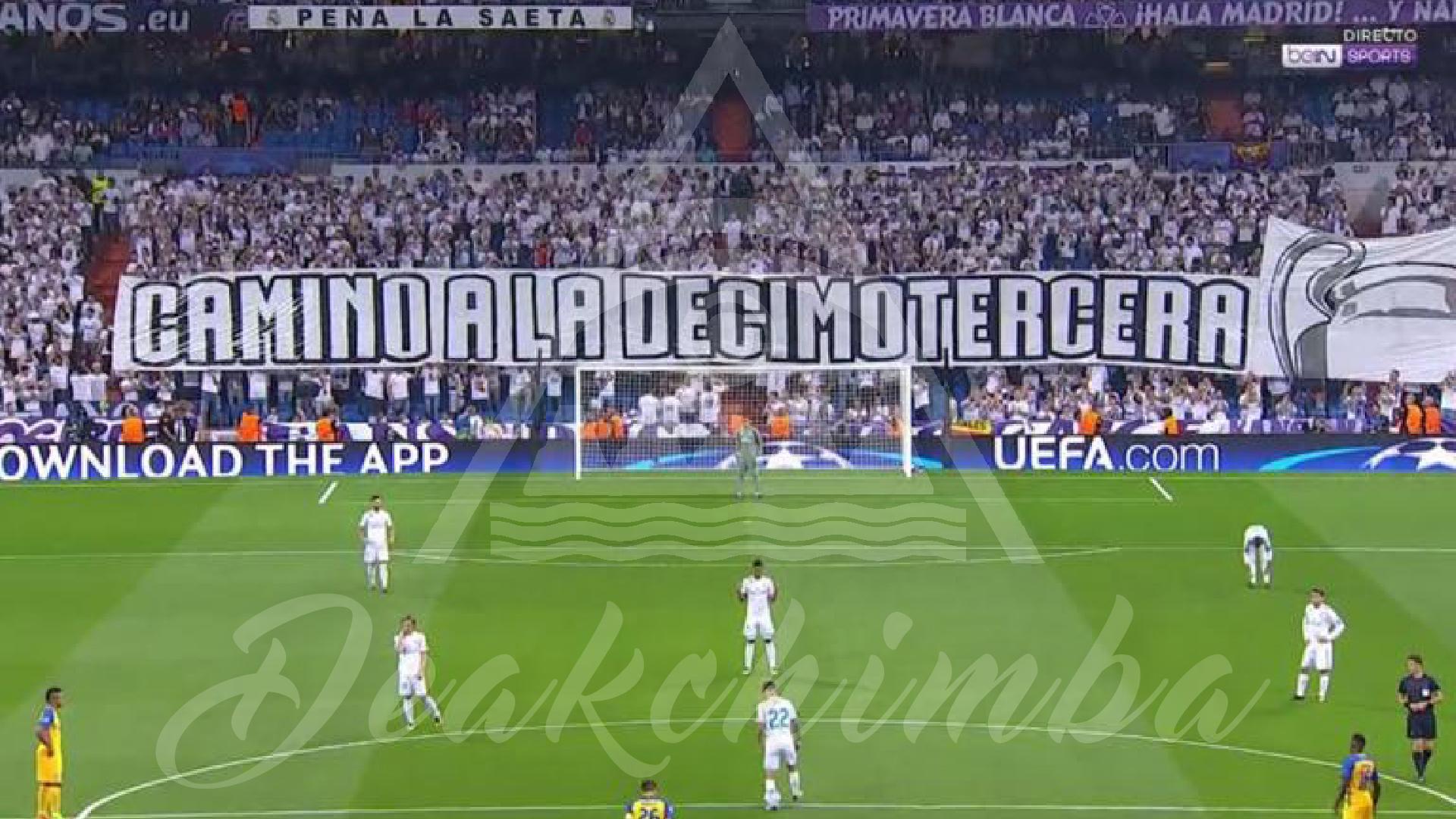 """pancarta con el lema """"Camino a la decimotercera"""""""