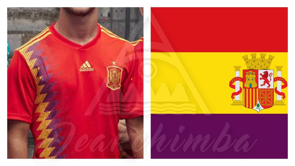 La camiseta de España y La bandera de la Segunda República Española